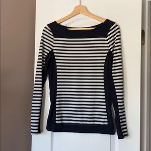 Navy and white striped from The Limited